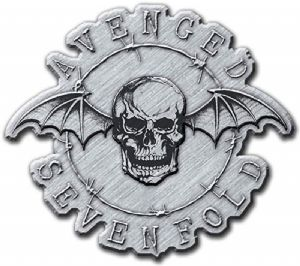 Avenged Sevenfold Death Bat  shaped Metal Pin Badge  (rz)